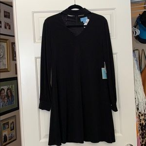 Gorgeous black chocker dress with ties in back